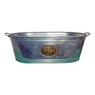 Galvanized Steel Cheers Beverage Tub by India Handicrafts