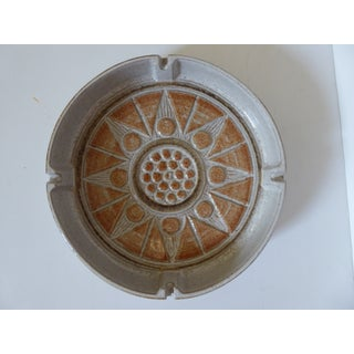 Large Vintage Stoneware Ashtray - Hand Wrought Preview