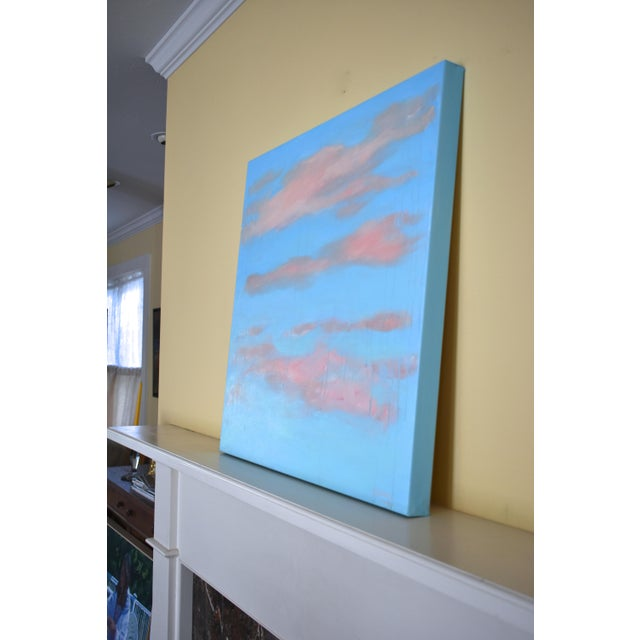 "Sky Blue Modern ""Cloud Study"" Contemporary Painting by Stephen Remick For Sale - Image 8 of 11"