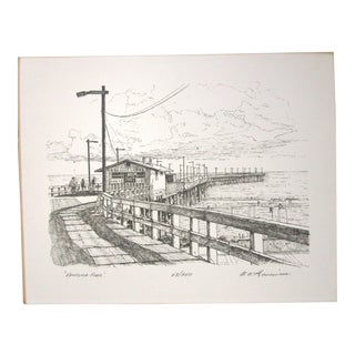 Vintage California Ventura Pier Limited Edition Print by Timothy Gaussiran No. 63/250 For Sale
