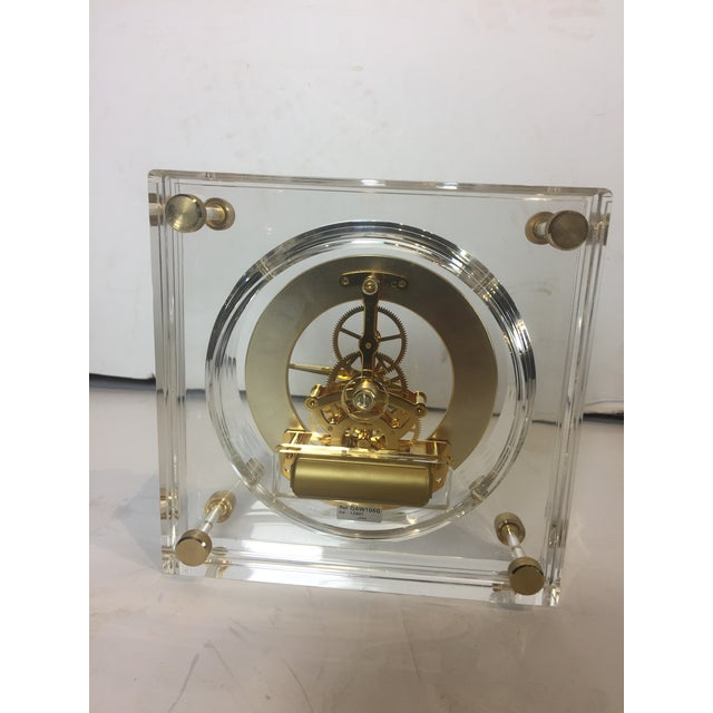 Late 20th Century Vintage Square Shape Lucite Clock For Sale - Image 11 of 13