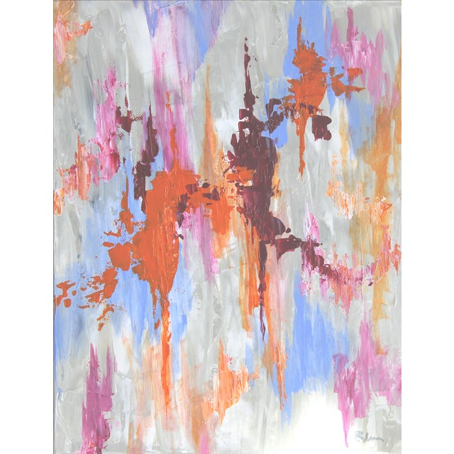 Abstract Textured Painting by C. Plowden - Image 2 of 3