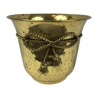 Vintage Mid-Century Brass Planter Pot For Sale