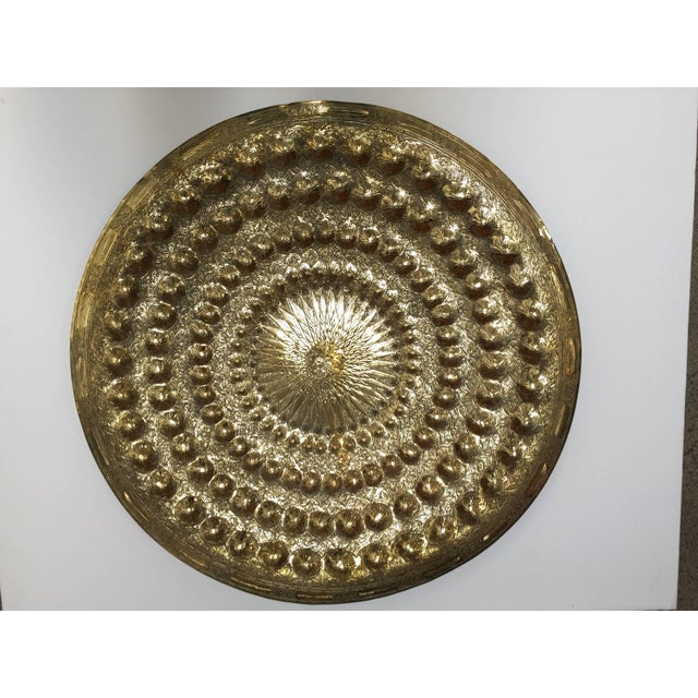 Indo Persian Brass Metal Tray Table For Sale - Image 13 of 13