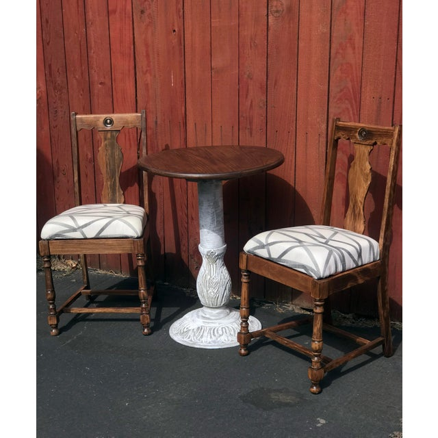 "Metal 1990s Boho Chic Wrought Iron ""Charlie Table"" For Sale - Image 7 of 9"