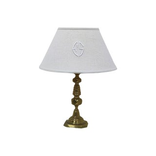 Antique French Linen lampshade / Pendant Shade For Sale