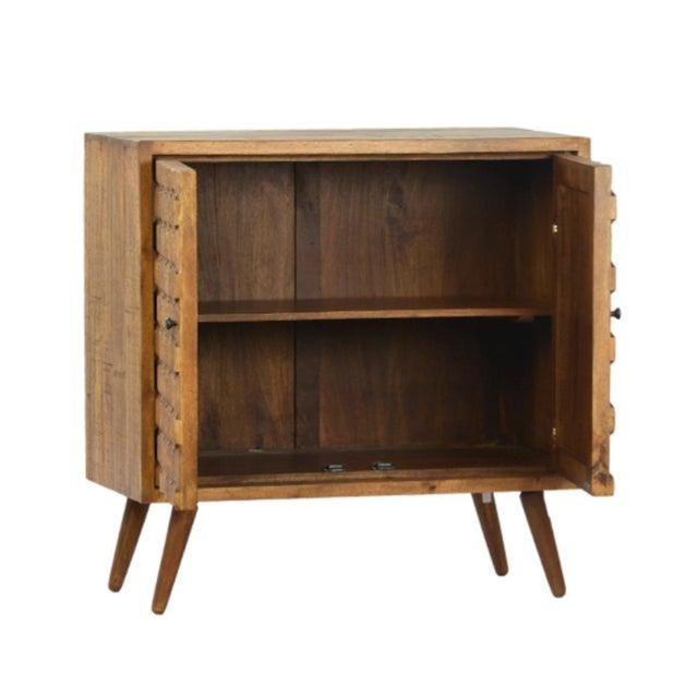 Raw Hexagon Wood Side Cabinet Chairish
