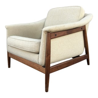 Mid Century Folke Ohlsson Swedish Dux Danish Lounge Chair For Sale
