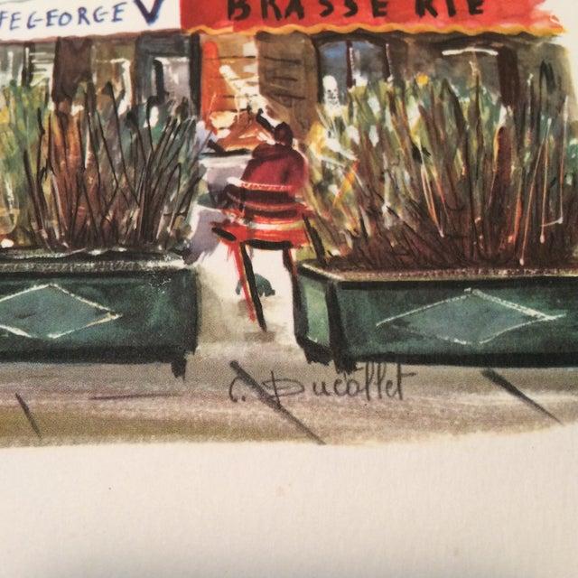 """Vintage Paris 1950's Litho """"Champs Elysees Arc de Triompe"""" by Ducollet - Image 6 of 11"""