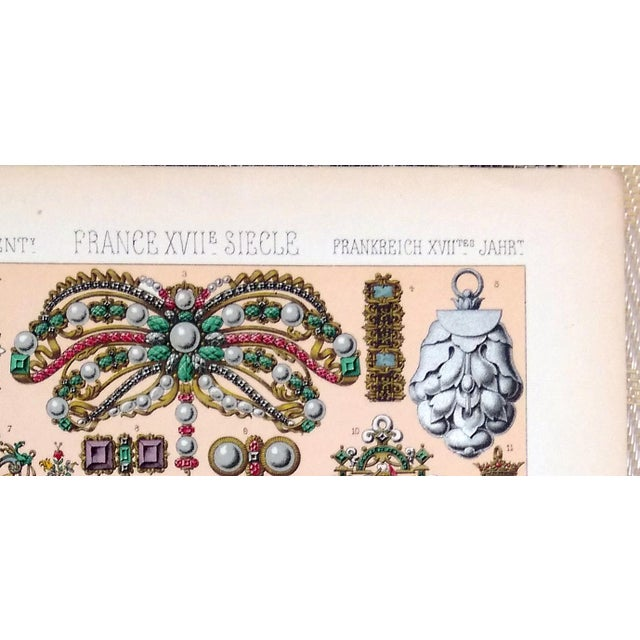 1888 Jewelry of 17th C. France Lithograph - Image 3 of 6
