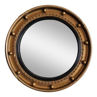 1930 English Gilt Convex Bullseye Mirror