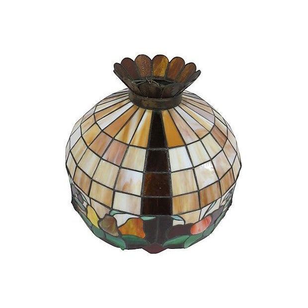 Stained Glass Light Fixture - Image 3 of 6