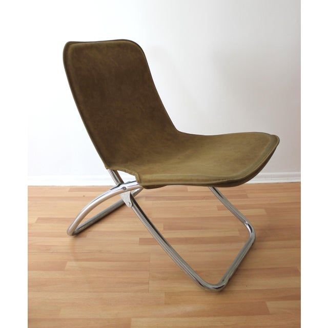 Folding Lounge Chairs - a Pair - Image 6 of 7
