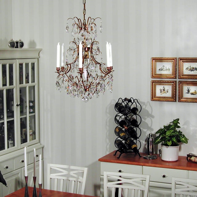 Baroque Six-Light Chandelier For Sale - Image 11 of 11