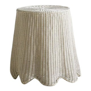 "Trome l'Oeil Wicker ""Ghost"" Accent Table For Sale"