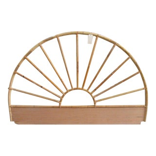 King Rattan Arched Headboard
