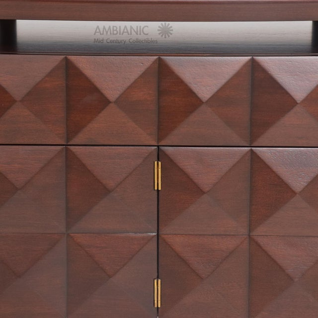 Mid-Century Mexican Modernist Mahogany Credenza For Sale - Image 10 of 10