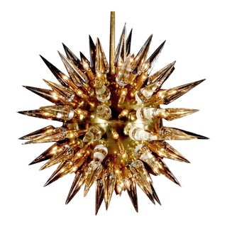 Monumental Italian Sputnik or Starburst Chandelier, Italy For Sale
