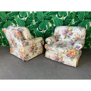 Floral Upholstered Club Chairs by Henredon for Ralph Lauren - A Pair Preview