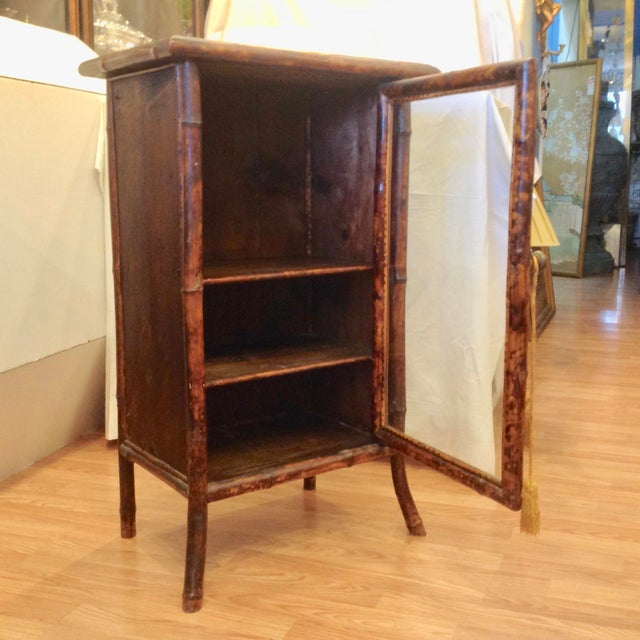 English 19th Century English Bamboo Cabinet For Sale - Image 3 of 13