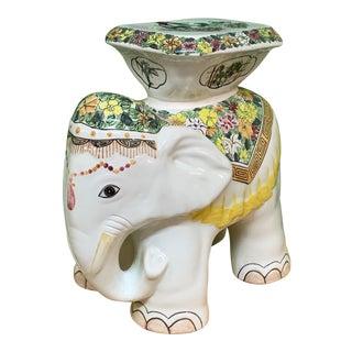 Ceramic Elephant Garden Stool For Sale