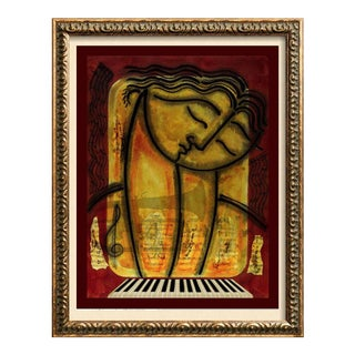 Late 19th Century Original Figurative Abstract Musical Bach Original Painting For Sale