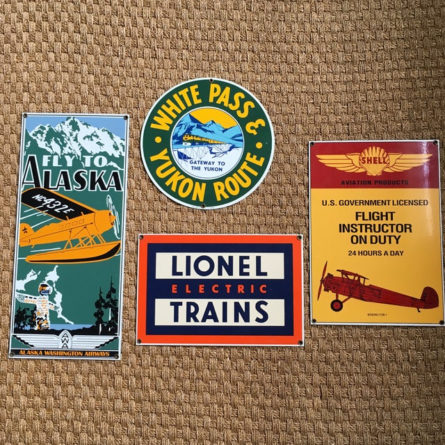 Ande Rooney Vintage Tin Signs - Set of 4 - Image 2 of 11
