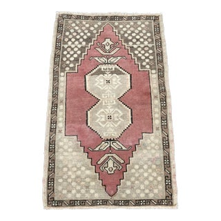 "Antique Turkish Oushak Rug - 1'9"" x 2'10"""