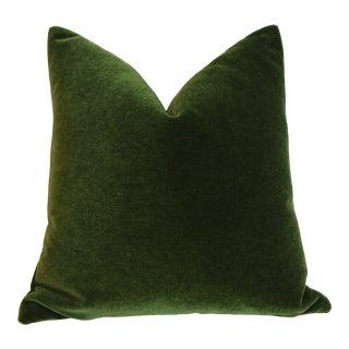 Emerald Angora Mohair Pillow Cover For Sale