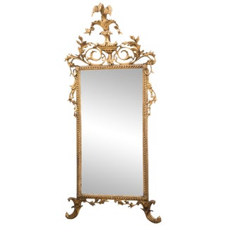 Italian Neoclassical Giltwood Pier Mirror For Sale
