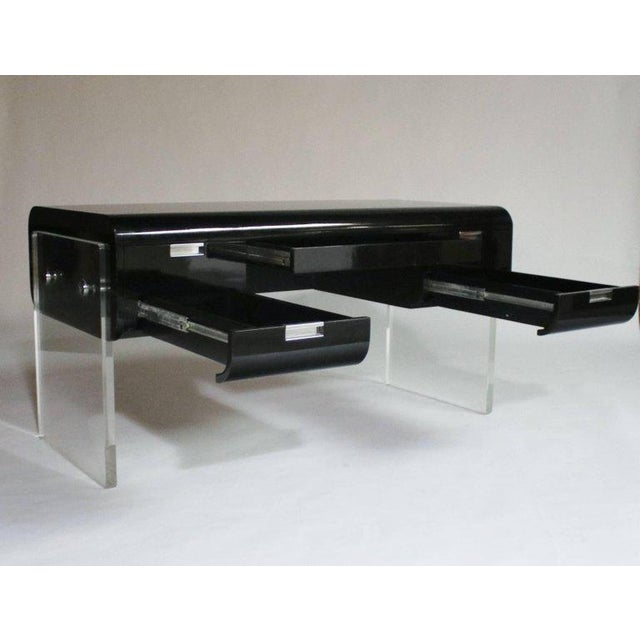 Pace Floating Desk on Lucite Frame For Sale In Chicago - Image 6 of 10