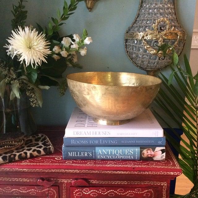 Greek Key Brass Bowl - Image 8 of 8