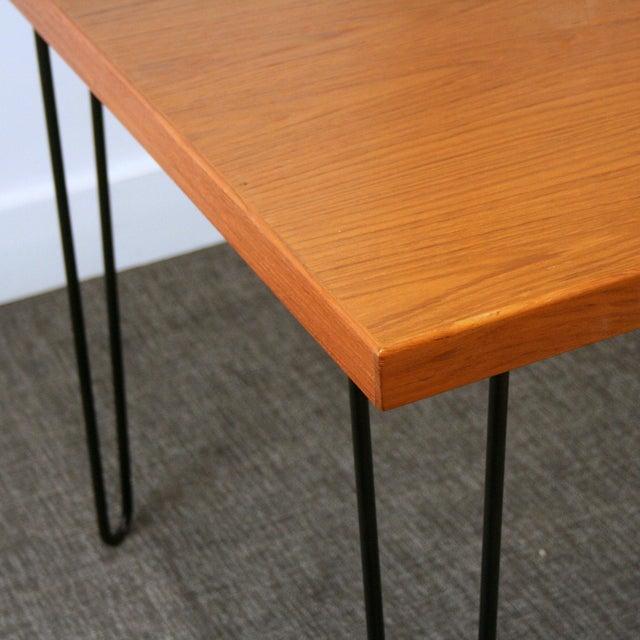 Teak Hairpin Dining Table - Image 2 of 5