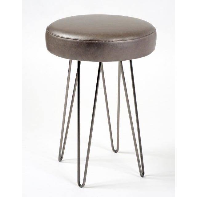 Awesome Mushroom Leather Hairpin Counter Stool Pdpeps Interior Chair Design Pdpepsorg