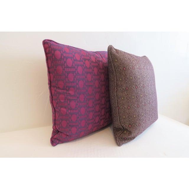Custom Purple Pattern Pillows- a Pair - Image 3 of 5