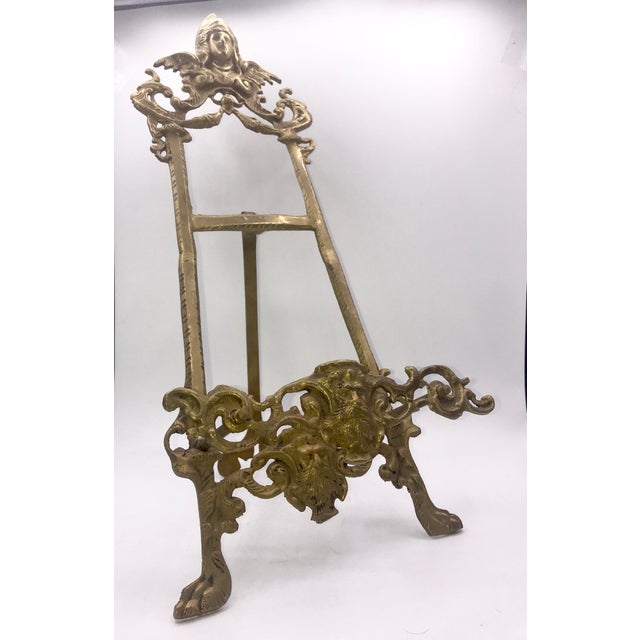 Early 20th Century Early 20th Century Antique Gothic Brass Book Stand For Sale - Image 5 of 9