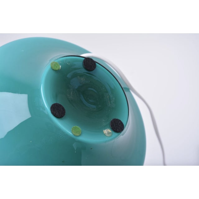 Danish Modern Vintage Green Glass Table Lamp by Le Klint, 1960s For Sale - Image 3 of 5