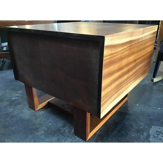 1970s Scandinavian Modern Teak Oversized Side Table For Sale - Image 10 of 11