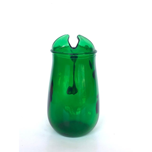 Vintage Anchor Hocking Forest Green Glass Pitcher For Sale In New York - Image 6 of 12