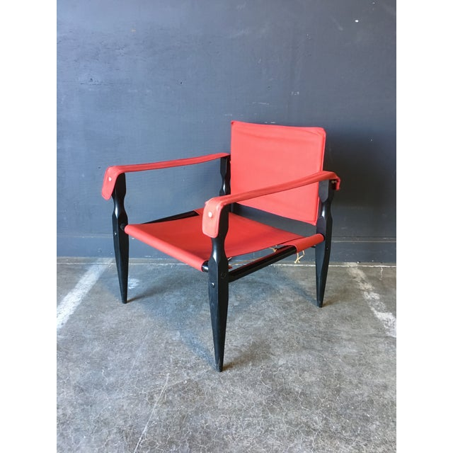 1980's Red Safari Chair For Sale - Image 9 of 11
