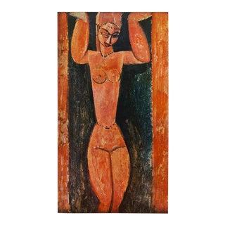 1958 Amedeo Modigliani, Caryatid, First English Edition Photogravure For Sale