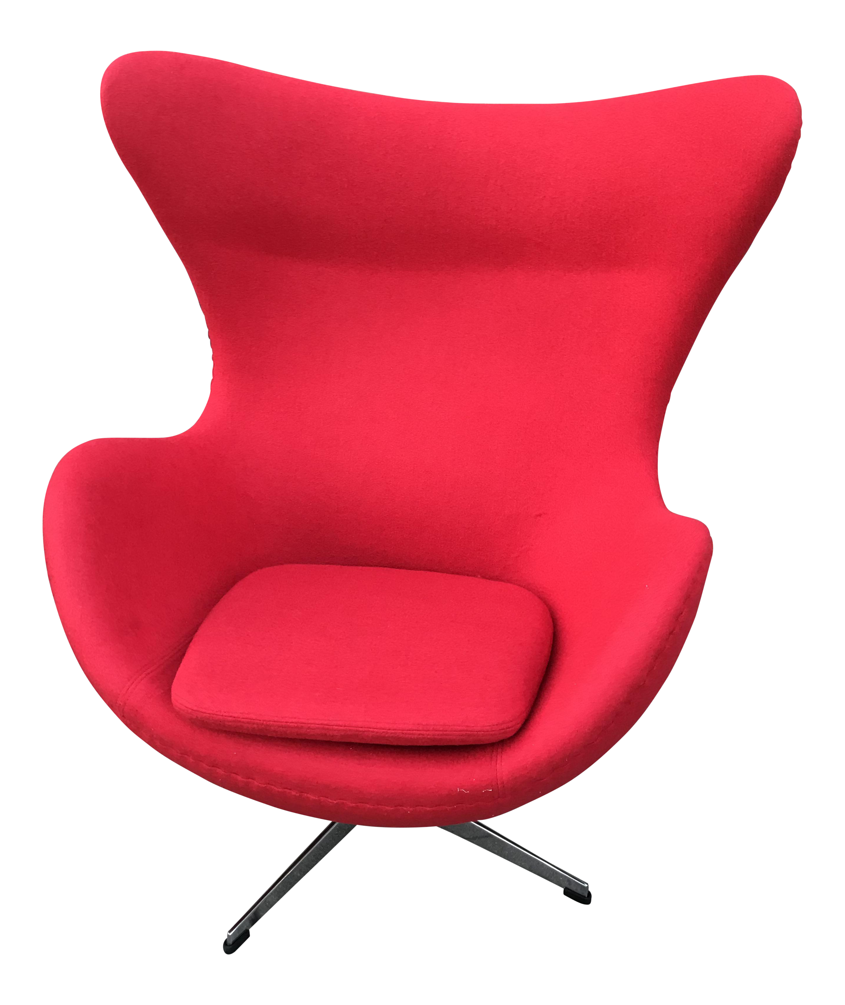 Modern Red Egg Chair