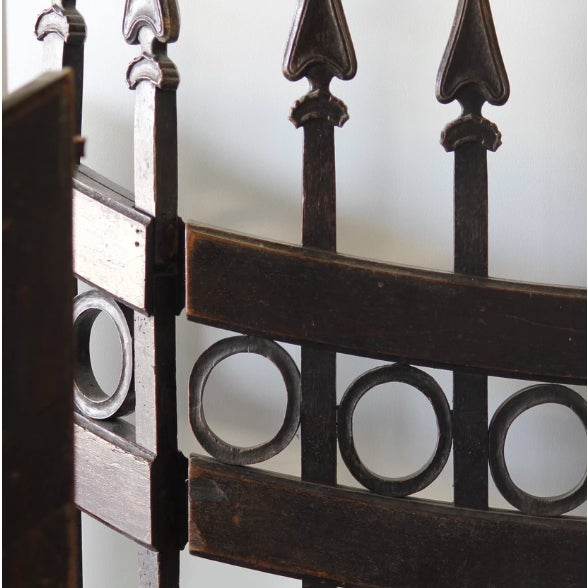 Rustic Wood Stable Gates - a Pair For Sale - Image 3 of 5