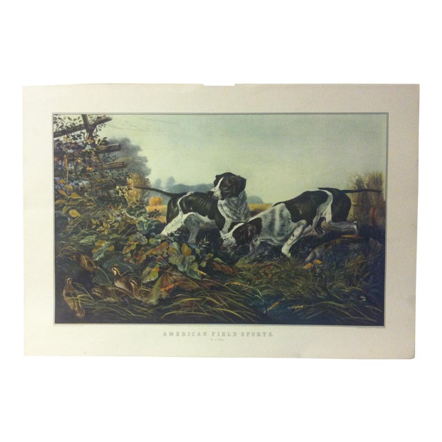 """Currier & Ives Color Print, """"American Field Sports"""", 1954 For Sale"""