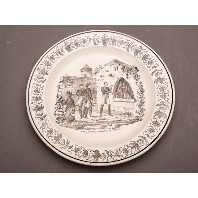 Ceramic Set Eight Antique French Transferware Plates, c.1860 For Sale - Image 7 of 11