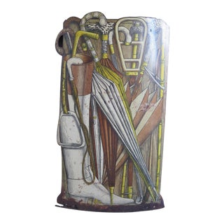 Early Piero Fornasetti Umbrella Stand For Sale