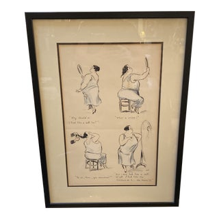 George Goursat Signed Lithograph, Framed For Sale