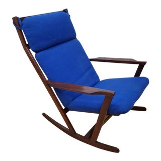 Mid Century Danish Rocking Chair by Poul Volther for Frem Rojle For Sale