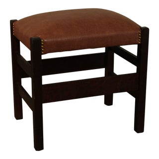 L & J.G. Stickley Antique Mission Oak Footstool, Bench For Sale