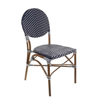 Navy & White Color Café Bistro Chair For Sale